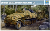 Немецкий бронированный  артиллерийский тягач Sd.Kfz.8 Gepanzerte 12t от Trumpeter