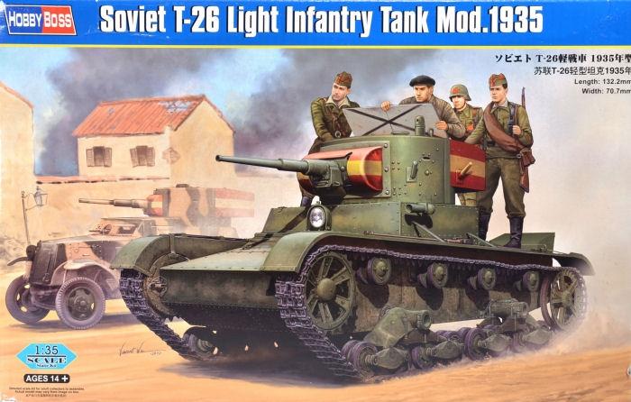 Советский легкий танк Т-26 образца 1935 г. Hobby Boss 82496