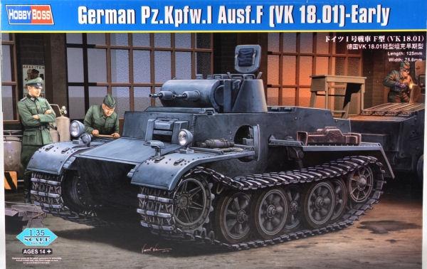 Немецкий легкий танк Pzkpfw.I Ausf.F (VK1801), ранняя версия Hobby Boss 83804