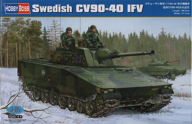 Шведская боевая машина пехоты CV90-40 Hobby Boss 82474