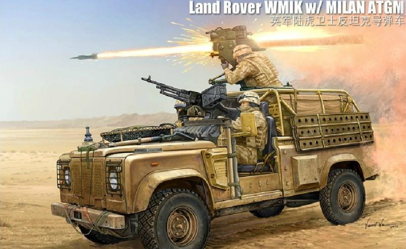 Джип Land Rover WMIK w/ MILAN ATGM Hobby Boss 82447
