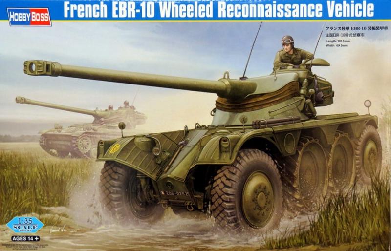 Французская колесная разведывательная машина EBR-10 Hobby Boss 82489