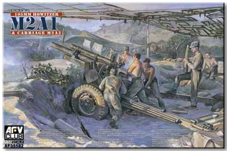 Американская полевая 105mm гаубица M2A1 Carriage M2A2 Afv-Club 35182