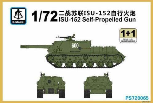 САУ  ИСУ-152 (2 модели в наборе) S-model 720065