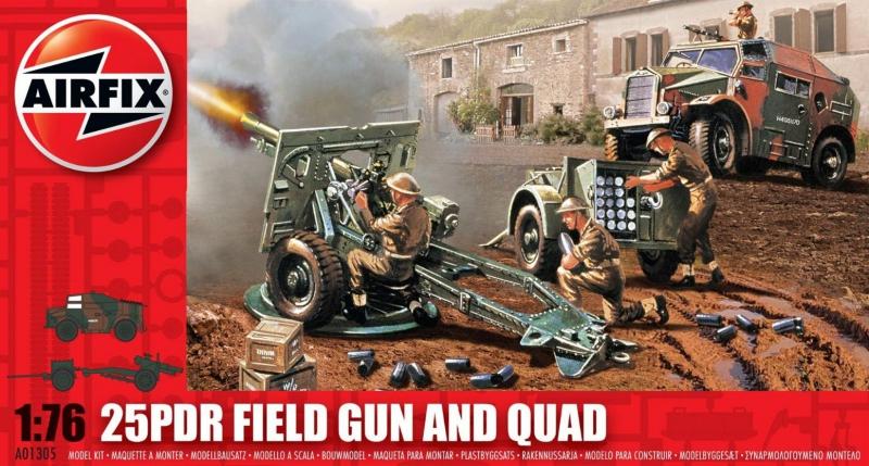 Полевая пушка 25 PDR и тягач Quad Airfix 01305
