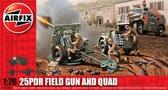 Полевая пушка 25 PDR и тягач Quad