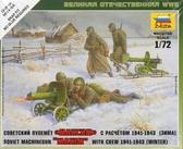 Советский пулемет Максим с расчетом 1941-1943 (зима)