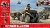 Британские квадроциклы с прицепами и экипажем, 2 модели в наборе