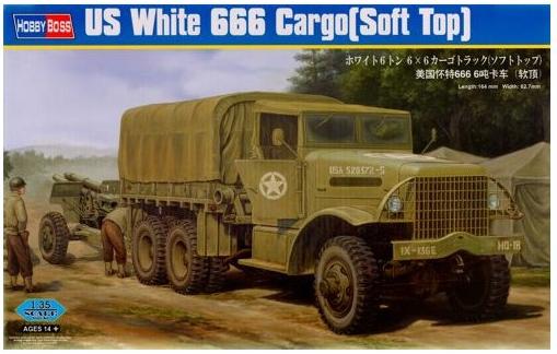 Грузовик White 666 (Soft Top) Hobby Boss 83802