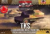 Разведывательная танкетка TKS с пулеметом