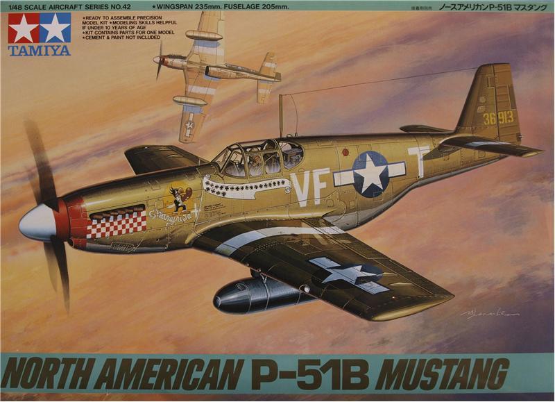Истребитель North American P-51B Mustang Tamiya 61042