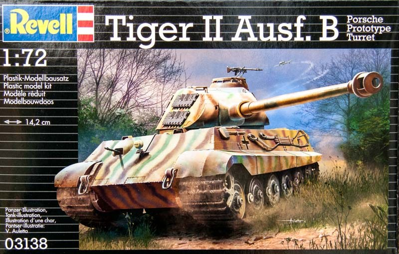 Танк Tiger II Ausf.B с башней Порше Revell 03138