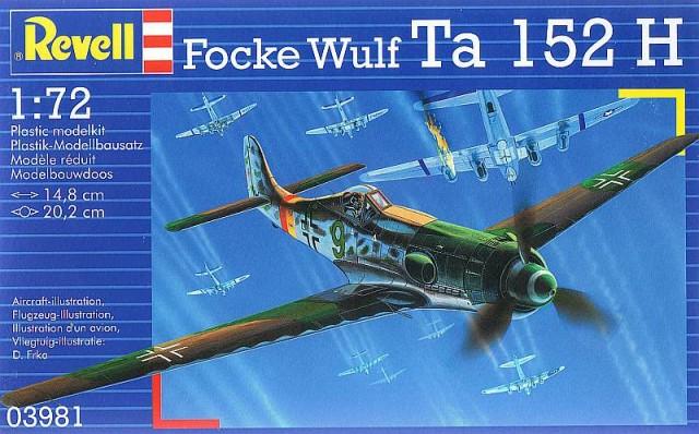 Истребитель Focke Wulf Ta 152 H Revell 03981