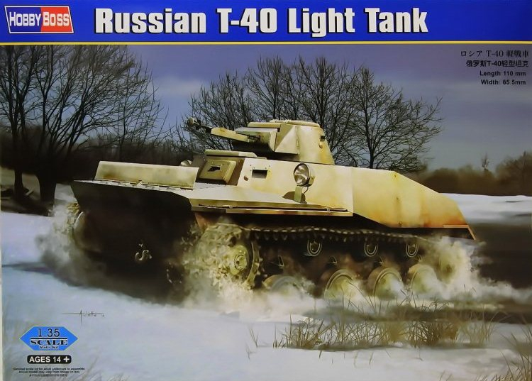Советский легкий танк T-40 Hobby Boss 83825