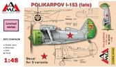 Истребитель Поликарпов И-153 Чайка, поздний