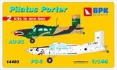Самолеты Pilatus Porter PC-6 и Au-23 (2 шт), набор 1