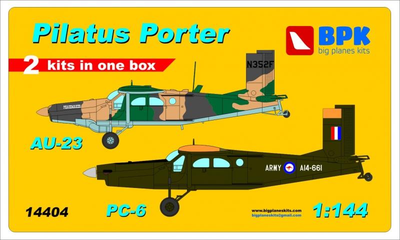 Самолеты Pilatus Porter PC-6 и Au-23 (2 шт), набор 2 Big Planes kits 14404