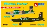 Самолеты Pilatus Porter PC-6 и Au-23 (2 шт), набор 2