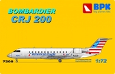 Пассажирский самолет Bombardier CRJ 200 American Eagle