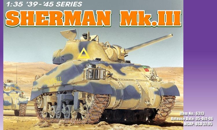 Американский средний танк Sherman Mk.III Dragon 6313