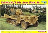 Полугусеничный тягач Sd.Kfz.10/5 с 20-мм зенитной пушкой Flak 38