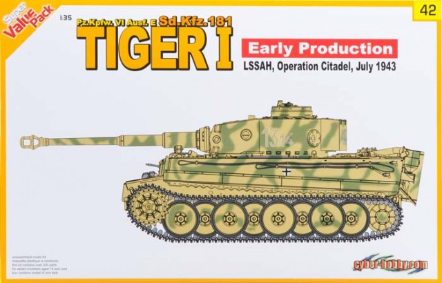 Немецкий танк Tiger I Early Production Pz.Kpfw. VI Ausf. E, Июль 1943 Dragon 9142
