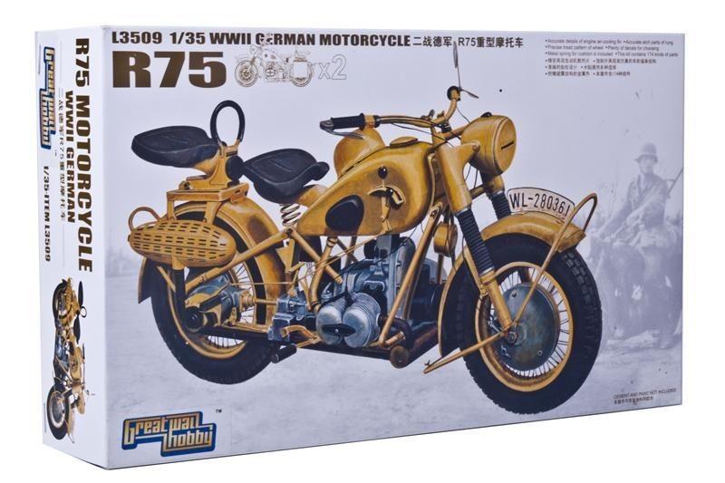 Мотоцикл BMW R75 (2 мотоцикла) Mars Models 3509