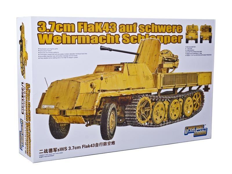 Полугусеничный траспортер sWS с 37-мм зенитным орудием (3.7cm FlaK43) Mars Models 3516