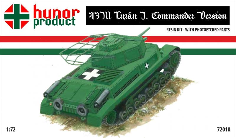 Командирский танк 43M Hunor Product 72010