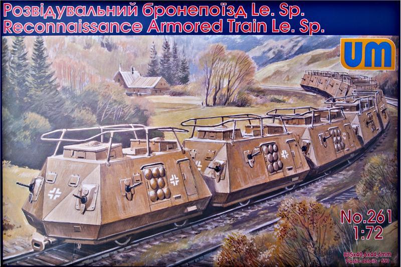 Разведывательный бронепоезд Le.Sp Unimodels 261