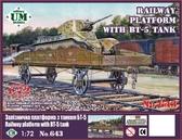 Железнодорожная платформа с танком БТ - 5