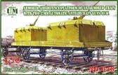 Бронированная ПВО платформа бронепоезда с двумя 37мм автоматическими зенитками 61-К