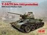 Советский средний танк Т-34/76 (производства конца 1943 г.) ICM 35366 основная фотография