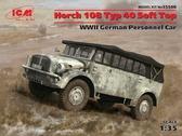 Германский армейский автомобиль Horch 108 Typ 40 с поднятым тентом