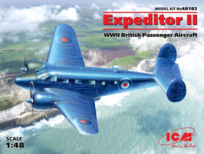 Британский пассажирский самолет Expeditor II ICM 48182
