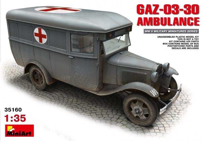 Санитарный автобус ГАЗ-03-30 MiniArt 35160