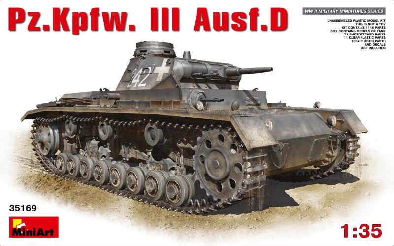 Средний танк Pz.III Ausf D MiniArt 35169