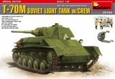 Советский легкий танк T-70M с экипажем, специальная версия