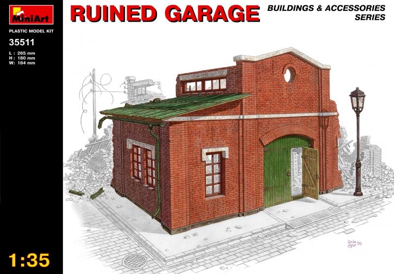 Разрушенный гараж MiniArt 35511
