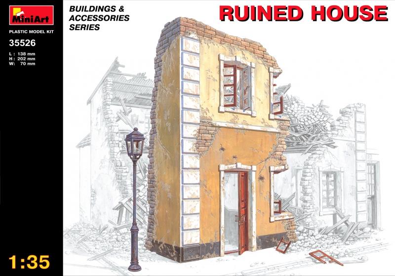 Разрушенный дом MiniArt 35526