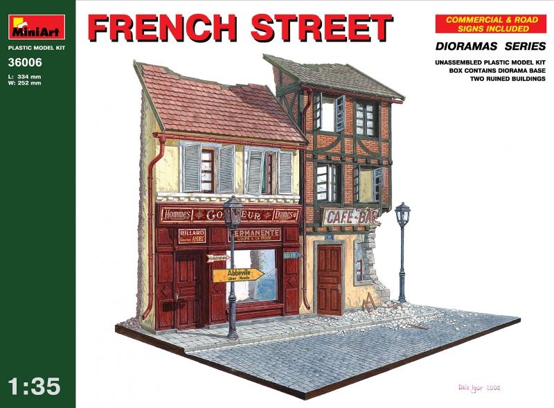 Французкая улица MiniArt 36006