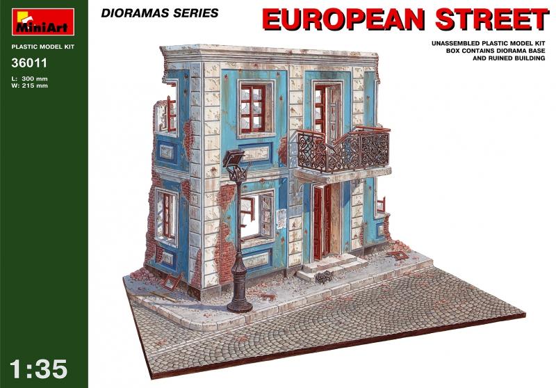 Европейская улица MiniArt 36011