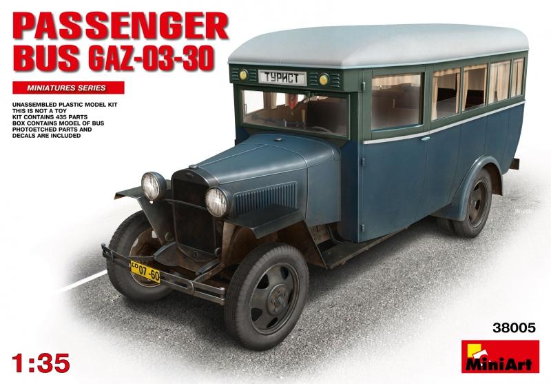 Пассажирский автобус ГАЗ-03-30 MiniArt 38005