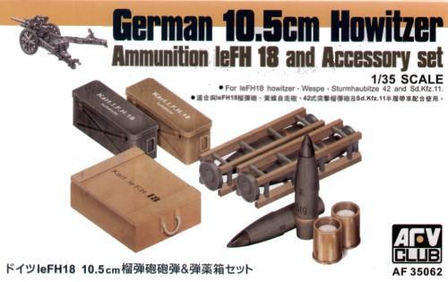 Снаряды, укупорка, ящики для GERMAN leFH18 105mm Afv-Club 35062