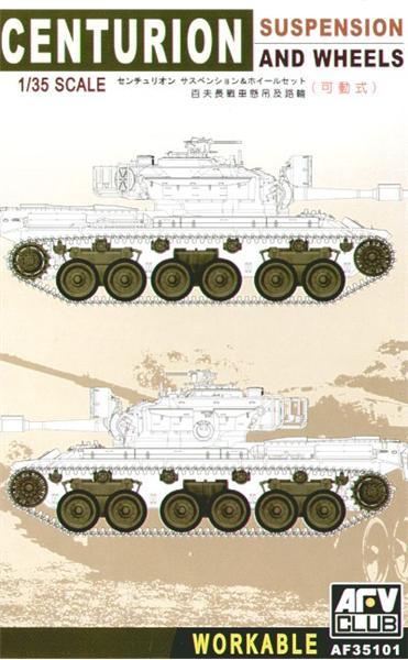 Работоспособные подвески и колеса для танка Centurion Afv-Club 35101
