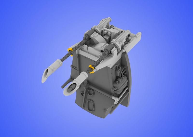 Верхние пулеметы MG 17 для Bf 109E, рекомендовано для Eduard Eduard 648060