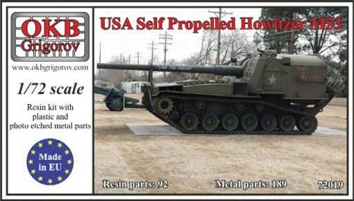 Американская САУ M53 OKB Grigorov 72019
