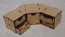 Угловой модуль с 4 маленькими и 1 большим ящиком для расходников и разных материалов Crazy Hands 005 основная фотография