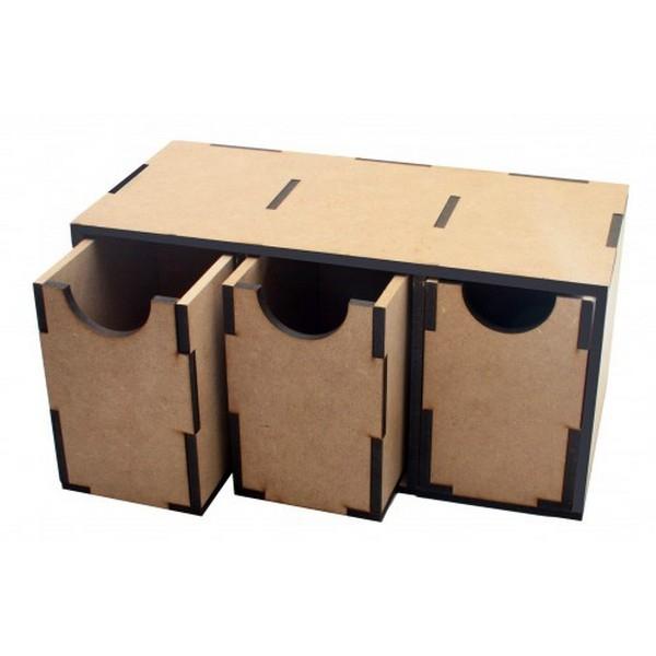 Модуль с 3 большими вертикальными ящиками Crazy Hands 008