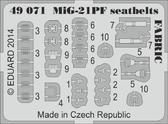 Фототравление 1/48 МиГ-21ПФ ремни безопасности (Eduard)